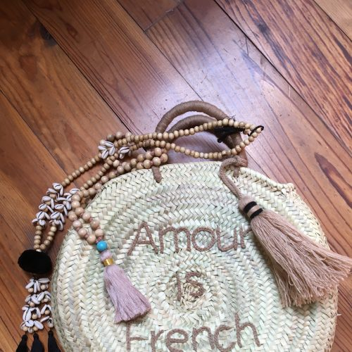Panier Rond Taupe