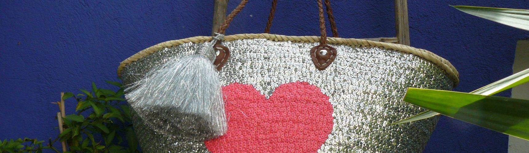 Panier sequin Coeur
